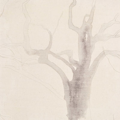 study #1, 2003. pencil and watercolour on unmounted canvas, 43x37.5cm / 17.2x15in
