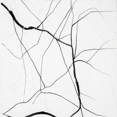 study #5, 2004. ink and gesso on archival paper, 20x19cm / 7.9x7.5in