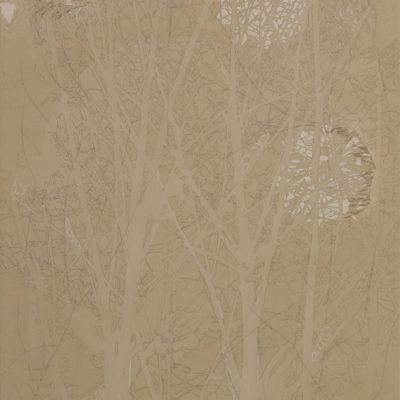 Senza titolo, 2005. Matita, acquarello, acrilico e filo da cucire su tela. 120x80cm