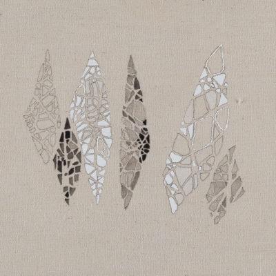 Immagina – studio, 2014. Matita, acquarello ed acrilico su tela grezza. 18x19,5cm