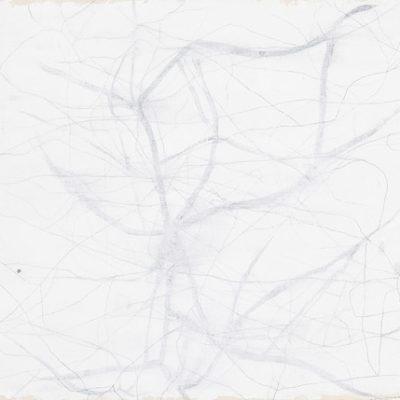 Studio #3, 2004. Matita, acquarello, acrilico e gesso su tela. 39x24cm