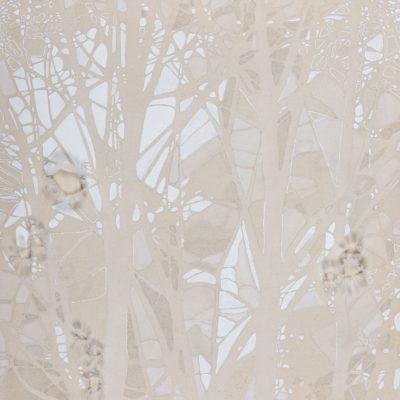 Il filo da cucire di mio nonno (Sartoria Gentili 1928-1957), 2013. Matita, acquarello, acrilico e filo da cucire su tela grezza. 60,5x60cm