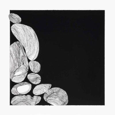 Bolle, studio #12 – inchiostro, gouache e collage su carta museale. 17x16cm - 2016