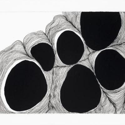 Bolle, studio #14 – inchiostro e gouache su carta museale. 15x19cm – 2016