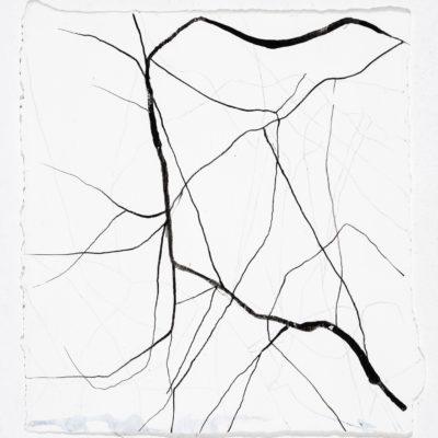 Studio #5. Inchiostro e gesso su carta museale, 20x19cm/7.9x7.5in - 2004