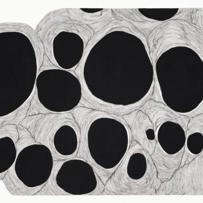 Bolle, studio #15 – inchiostro e gouache su carta museale. 56x76cm – 2017