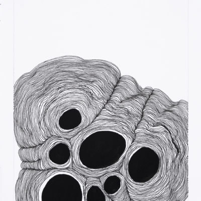 Bolle, studio #16. Inchiostro e gouache su carta museale. 20.5x15cm - 2017
