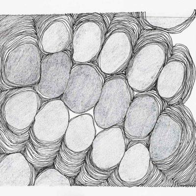 Bolle, studio #9 – inchiostro e matita su carta. 16.8x15cm